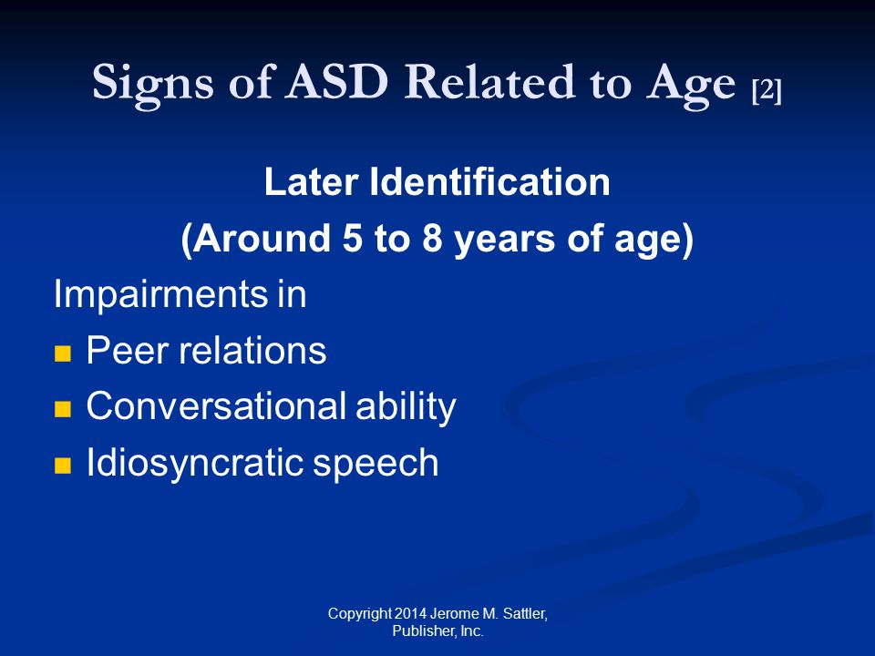 Signs of ASD Related to Age [2]